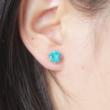 Kék köves fülbevaló - 1 pár