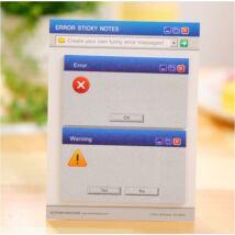 Öntapadós emlékeztető jegyzet - vicces Windows hibaüzenet stílus