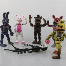 FNAF Five Nights At Freddy's figura szett - világító, szétszedhető (6 darab)