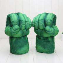 Avangers - A hihetetlen Hulk The incredible Hulk jelmez kiegészítő - zöld plüss ököl kesztyű - párban