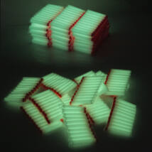 50 darabos szivacs játék töltény lőszer nerf csatákhoz - világító, flufluoreszkáló