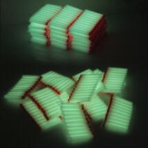 50 darabos szivacs játék töltény lőszer nerf csatákhoz - világító, fluoreszkáló