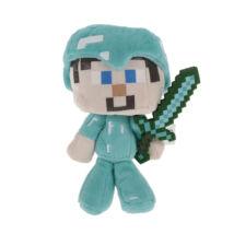 Minecraft plüss - Steve gyémánt ruházatban karddal