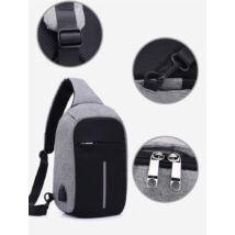 Lopásgátló oldaltáska hátizsák biztonsági táska USB töltőporttal