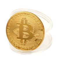 Bitcoin kriptopénz érme, díszérem tartóval