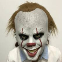 Pennywise Stephen King IT AZ halloween, farsangi latex gumi maszk