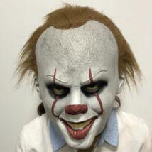 Pennywise Stephen King IT AZ halloween, farsangi latex gumi maszk