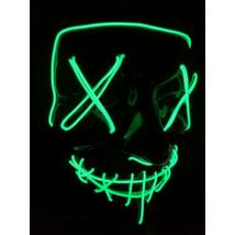 The Purge A bűn éjszakája LED világító halloween, farsangi maszk - ZÖLD