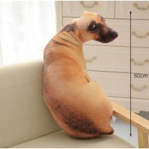 Valóságnű plüss kutya párna - 50cm