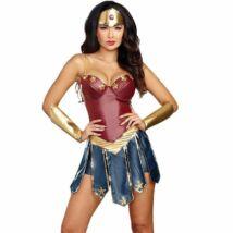 Modern Wonder Woman Csodanő (Gal Gadot féle) halloween, farsangi jelmez