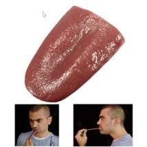 Bűvész trükk kellék gumi nyelv, élethű műnyelv