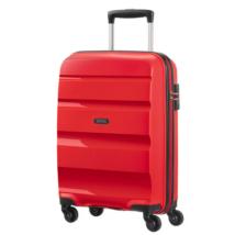 American Tourister by Samsonite Bon Air Spinner négy kerekes gurulós bőrönd 85A 001 (Wizzair, Ryanair kézipoggyász méret) piros, vörös