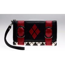 Harley Quinn halloween farsang jelmez kiegészítő - Fekete-piros női pénztárca