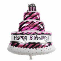 Héliumos, héliummal tölthető Boldog Születésnapot Happy Birthday léggömb lufi