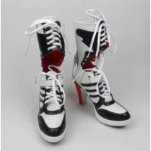 Harley Quinn cipő halloween farsang jelmez kiegészítő - csizma