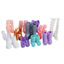 12 darabos kis játék cipő csizma szett barbie babákhoz