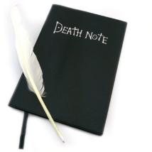 Death Note Halállista füzet tollal