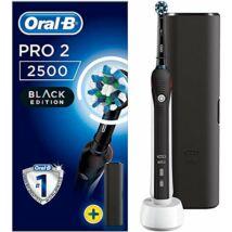 Braun Oral-B Pro 2 2500 Cross Action Black Edition fekete elektromos fogkefe utazótokkal