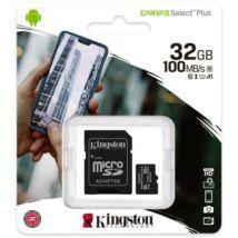 Kingston microSDHC Canvas Select Plus 32GB UHS-I/C10/V30/A1 SDCS2/32GB