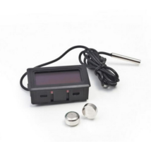 Beépíthető digitális hőmérő LCD kijelzővel - fekete