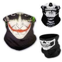 Koponyás bohóc csősál, koponya maszk, símaszk - Joker