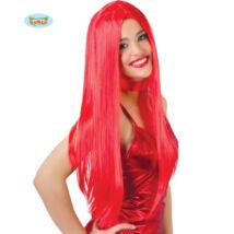 Hosszú vörös női paróka - halloween farsangi kiegészítő