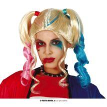 Harley Quinn halloween farsang jelmez kiegészítő - szőke paróka (v2)