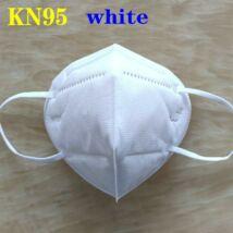 KN95 FFP2 maszk szájmaszk színes - fehér (egyesével csomagolva)