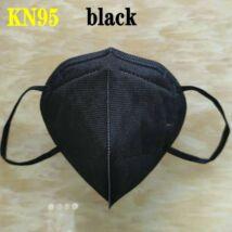 KN95 FFP2 maszk szájmaszk színes - fekete (egyesével csomagolva)