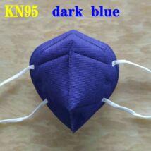 KN95 FFP2 maszk szájmaszk színes - kék (egyesével csomagolva)