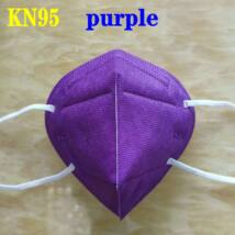 KN95 FFP2 maszk szájmaszk színes - lila (egyesével csomagolva)