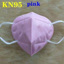 KN95 FFP2 maszk szájmaszk színes - rózsaszín, pink (egyesével csomagolva)