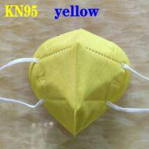 KN95 FFP2 maszk szájmaszk színes - sárga (egyesével csomagolva)