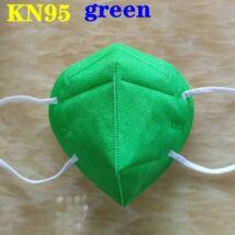 KN95 FFP2 maszk szájmaszk színes - zöld (egyesével csomagolva)