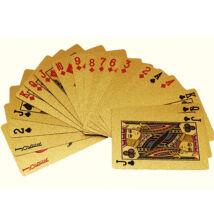 Arany színű műanyag pókerkártya francia kártya plasztikkártya készlet
