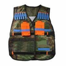 Játék mellény nerf tár- és lőszertartóval - terepszínű