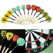 12 darabos darts nyíl készlet - fémhegyű