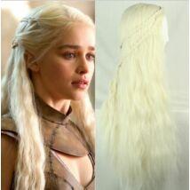 Trónok Harca Daenerys Targaryen halloween farsang jelmez kiegészítő - szőke paróka
