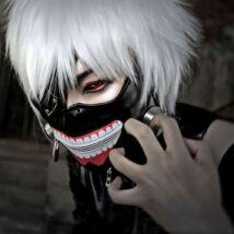 Tokyo Ghoul Kaneki Ken halloween farsangi jelmez kiegészítő - maszk