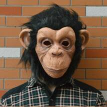 Majom csimpánz halloween, farsangi maszk