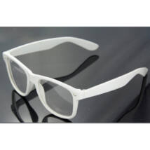 Nullás, nulldioptriás divat szemüveg - fehér