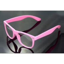 Nullás, nulldioptriás divat szemüveg - rózsaszín, pink