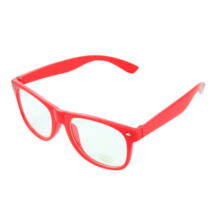 Nullás, nulldioptriás divat szemüveg - piros