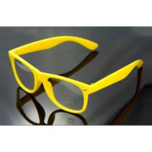 Nullás, nulldioptriás divat szemüveg - sárga
