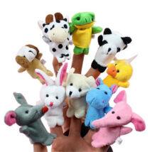 Kis állatos plüss ujjbábok - 10 darab