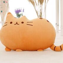 Pusheen plüss cica párna - narancssárga