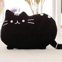 Pusheen plüss cica párna - fekete