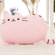 Pusheen plüss cica párna - rózsaszín