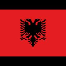 Nemzeti lobogó ország zászló nagy méretű 90x150cm - Albánia, albán