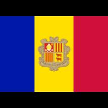 Nemzeti lobogó ország zászló nagy méretű 90x150cm - Andorra, andorrai